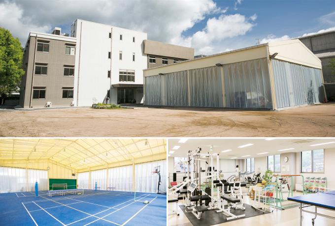 瀬野川病院付設のデイケアセンター。3つのデイケアと多くのリハビリ施設を有しています。