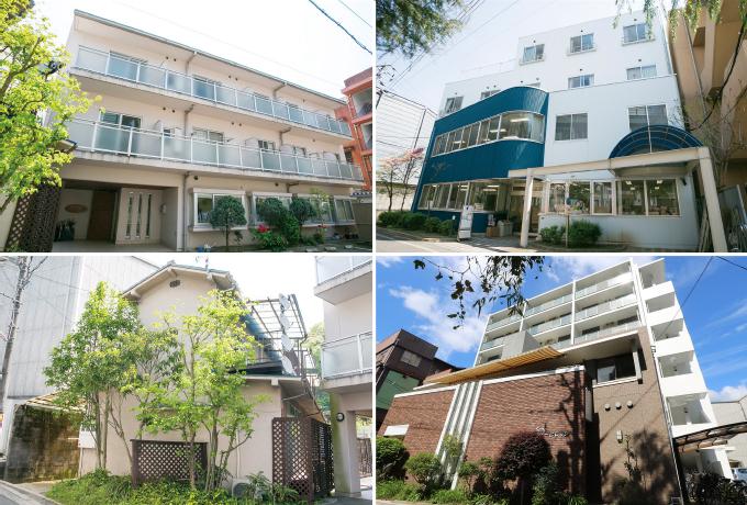 当院周辺にある4種類の入居支援施設。回復状況に合わせて、最適な入居施設が選べます。