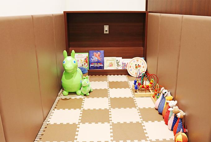 キッズルームもございますので、お子様連れの方も安心してご来院ください。